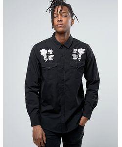 Rollas | Рубашка С Вышивкой Роз