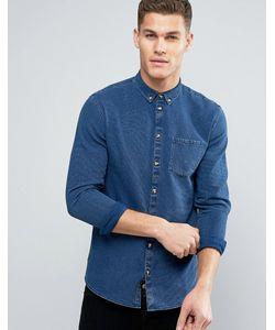 Minimum | Синяя Приталенная Джинсовая Рубашка На Пуговицах Oliseo