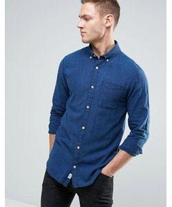 Jack & Jones | Приталенная Рубашка Из Хлопка Шамбре Vintage