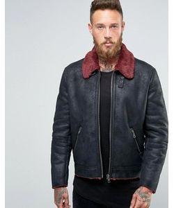 Asos | Черная Куртка Из Искусственной Цигейки С Контрастным Воротником