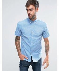 Farah | 2-Цветная Оксфордская Рубашка Узкого Кроя На Пуговицах С Короткими Рукавами