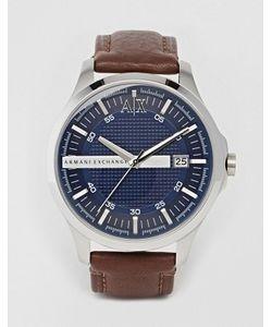 ARMANI EXCHANGE   Часы С Коричневым Кожаным Ремешком Ax2133