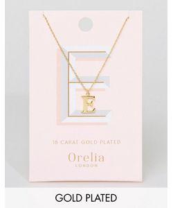 Orelia | Позолоченное Ожерелье С Подвеской В Виде Буквы Е