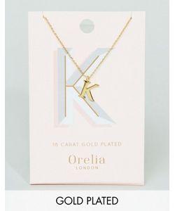 Orelia | Позолоченное Ожерелье С Подвеской В Виде Буквы K