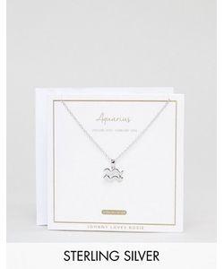 Johnny Loves Rosie | Серебряное Ожерелье Со Знаком Зодиака Водолей