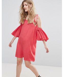 Influence | Платье С Открытыми Плечами И Кисточками