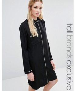 Fashion Union Tall | Платье-Рубашка С Контрастной Отделкой
