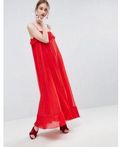 Asos | Плиссированное Платье Макси Из Ткани Добби