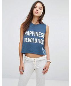 213 Apparel | Топ С Принтом Happiness Revolution