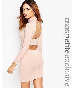 ASOS PETITE | Облегающее Платье С Высокой Горловиной И Открытой Спиной