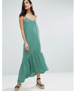 Asos   Ярусное Платье Макси
