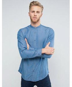 Selected Homme | Приталенная Рубашка С Горловиной На Пуговице