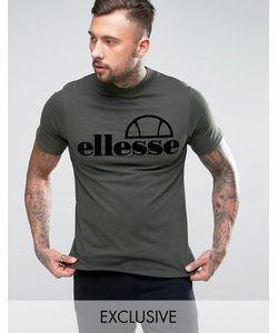 Ellesse | Футболка С Высоким Воротом И Велюровым Логотипом