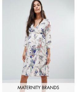 Mama Licious | Платье С Запахом И Цветочным Принтом Mamalicious
