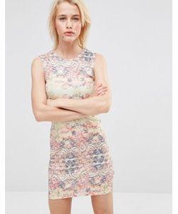 Lavand. | Легкое Облегающее Платье С Абстрактным Принтом Lavand