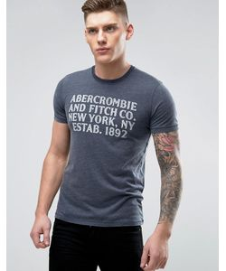 Abercrombie and Fitch | Abercrombie Fitch Burnout T-Shirt Muscle Slim Fit Abercrombie Print In