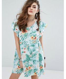 Motel | Свободное Платье С Гавайским Цветочным Принтом