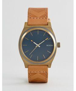 Nixon | Часы Со Светло-Коричневым Кожаным Ремешком Local Time Teller