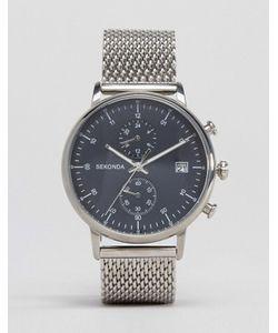 Sekonda | Серебристые Часы С Хронографом И Сетчатым Браслетом