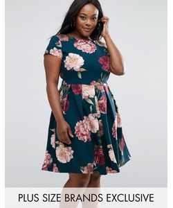 Closet Plus | Платье Миди С Цветочным Принтом