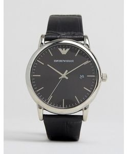 Emporio Armani | Часы С Черным Узким Кожаным Ремешком Ar2500
