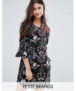 Yumi Petite | Цельнокройное Платье С Принтом И Оборками
