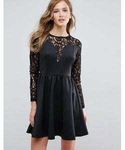 Amy Lynn | Платье С Кружевными Рукавами