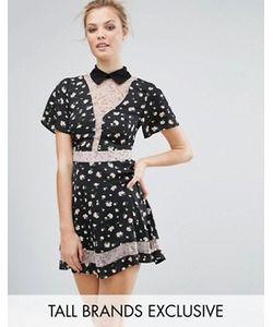Fashion Union Tall | Короткое Приталенное Платье С Принтом