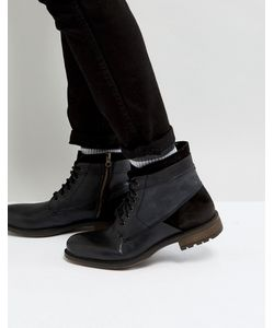STEVE MADDEN   Черные Кожаные Ботинки Hardin