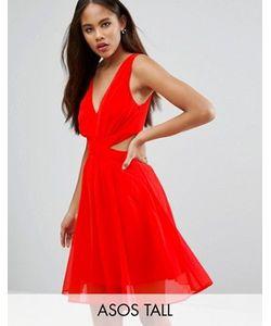 ASOS TALL | Платье Мини С Вырезами По Бокам И Бантом Сзади