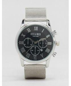 Reclaimed Vintage | Серебристые Часы-Хронограф С Сетчатым Браслетом