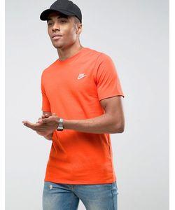 Nike | Оранжевая Футболка С Вышивкой Логотипа Futura 827021-891