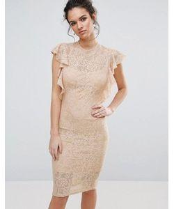 TFNC | Кружевное Платье Миди С Рюшами