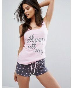 Boux Avenue | Пижамный Комплект С Шортами И Принтом Sleep All Day Party All