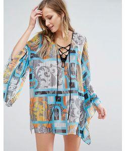 FOREVER UNIQUE | Пляжное Платье С Расклешенными Рукавами