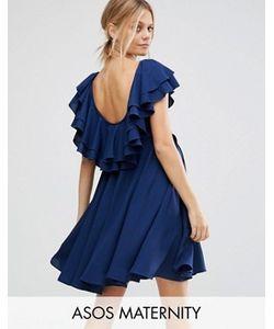 ASOS Maternity | Приталенное Платье Мини С Глубоким Вырезом Сзади