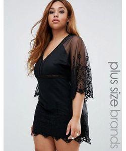 Boohoo Plus | Платье С Широкими Кружевными Рукавами Boutique