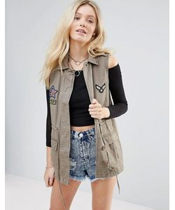 Glamorous | Куртка Без Рукавов С Нашивками
