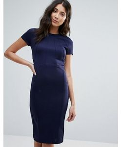 Club L | Облегающее Платье Миди С Плиссировкой Спереди Office