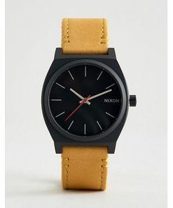Nixon | Часы Со Светло-Коричневым Кожаным Ремешком Time Teller