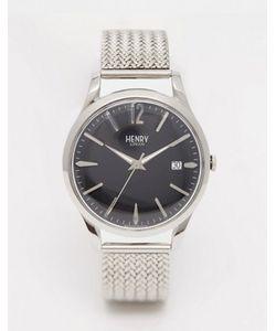 Henry London | Серебряные Наручные Часы С Плетеным Дизайном Ремешка Edgeware