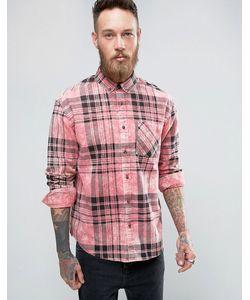 Asos | Выбеленная Свободная Рубашка В Клетку