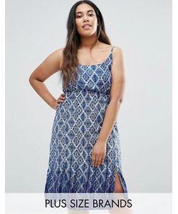 Diya | Платье На Бретельках С Геометрическим Принтом Plus