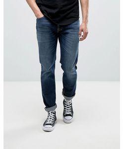 Nudie Jeans Co | Темные Выбеленные Джинсы Dude Dan