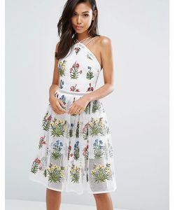 Rare | Платье Миди С Вышивкой London