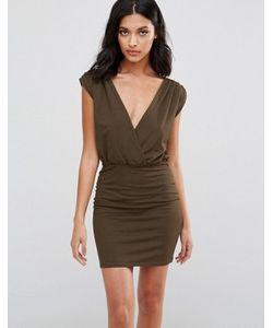 Rare | Облегающее Платье С Запахом
