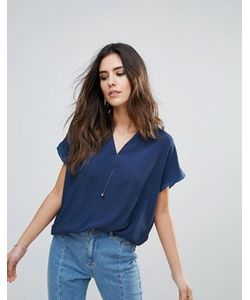 Soaked In Luxury | Рубашка С V-Образным Вырезом И Короткими Рукавами
