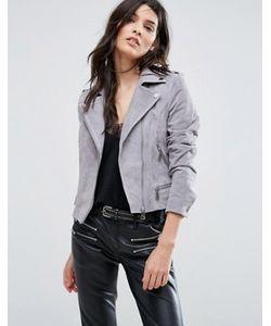Vero Moda | Замшевая Байкерская Куртка