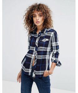 G-Star   Клетчатая Рубашка В Стиле Вестерн