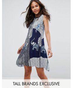Glamorous Tall   Свободное Платье С Ацтекским Принтом Слонов